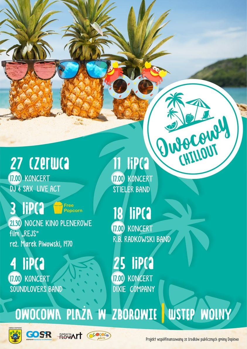 owocowy chillout - plakat